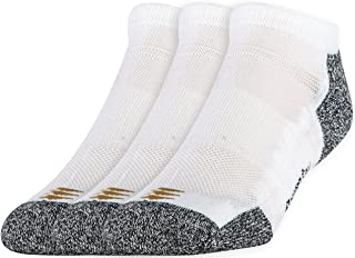 PowerSox Men's 3-Pack Powerlites No Show Socks with Moisture Control