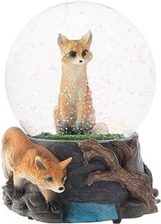 Elanze Designs Clever Fox Friends 100MM Musical Water Globe Plays Tune Born Free