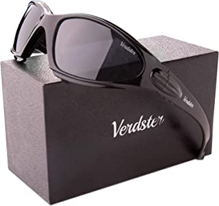 TourDePro Motorcycle Sunglasses for Men and Women - UV Protected - Comfortable Wraparound Padded Frame - Great for Driving, Fishing, Cycling - Case, Pouch & Cloth Included
