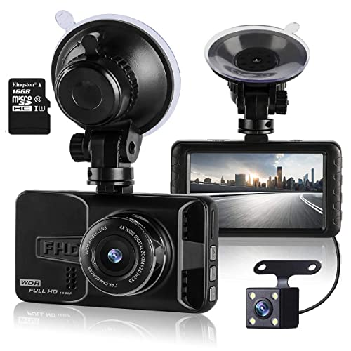 Dash Cam Mini Car Camera Bnoia 1080P HD 2.7 Screen Dashboard DVR Vehicle Recorder,Night Vision G-sensor 120/° Wide Angle Loop Recording B-008-US