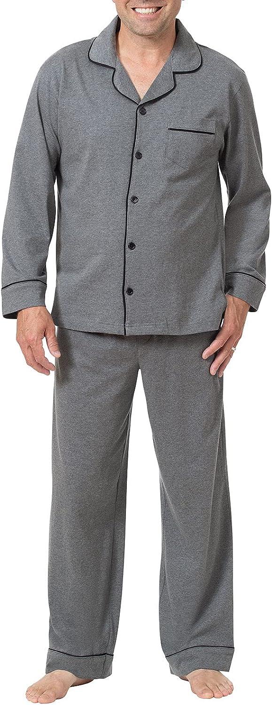 PajamaGram Classic Mens Pajamas Set Low price Cotton Inventory cleanup selling sale Men -