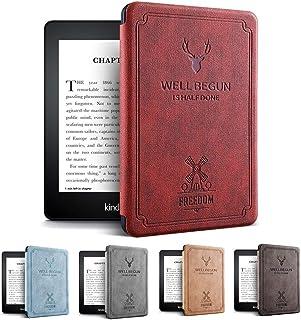 Amazon第10世代Kindle Paperwhite 4ケース 軽 薄 全面保護 電子書籍リーダー保護カバー オートスリープ機能 耐衝撃 KPW4 2018キンドルペーパーホワイト専用 (ワインレッド)
