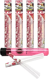 Cyclones Strawberry Flavored Pre Rolled Cones Clear (4 Packs) with Rolling Paper Depot Kewl Tube