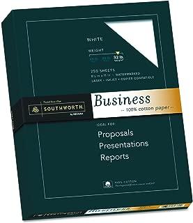 Southworth 100% Cotton Business Paper, 8.5 x 11 Inches, 32 lb, White, 250 per Box (JD18C)