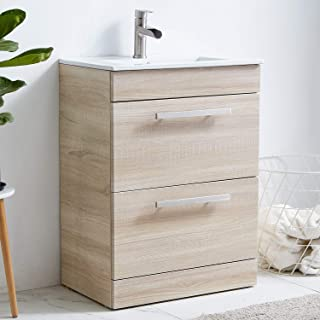 bathroom vanity with drawers on right side
