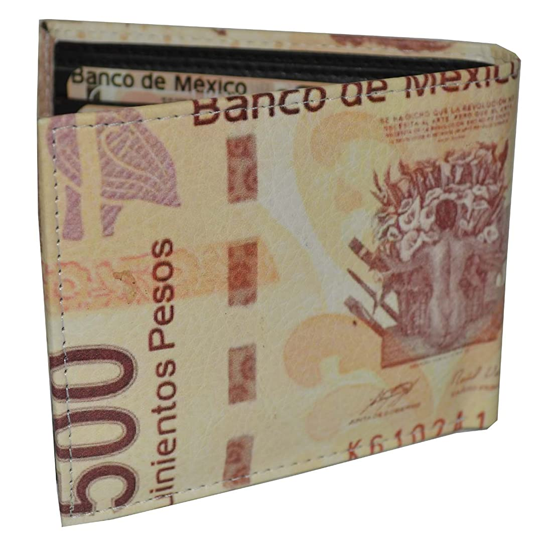 明らか写真を描く利用可能メンズ二つ折りエキゾチック財布Picture Mexican Pesos with Printedギフトボックス