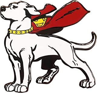 Krypto the Superdog Enamel | DC Comics Worlds | Pin Double Post Back | Perfect for New Tote Bag Coming Later | Great Item for Superman Fans