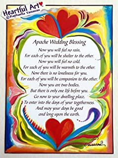 Apache Wedding Blessing 5x7 poster - Heartful Art by Raphaella Vaisseau