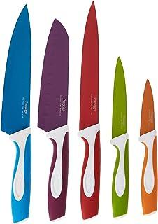 Prestige 5 Pieces Vibro Kitchen Knives Set, PR9021, Multi Color, Stainless Steel