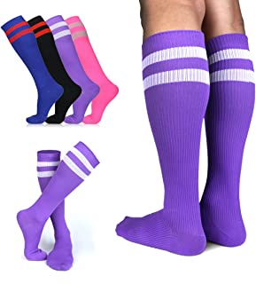 AIMERDAY Compression Socks Women Men (20-30 mmHg), Graduated Athletic Stockings for Running, Stamina Recovery, Nurses Compression Socks, Varicose Veins, Flight, womens, Violet, S/M (US Women 5.5-8.5 / US Men 5-9)