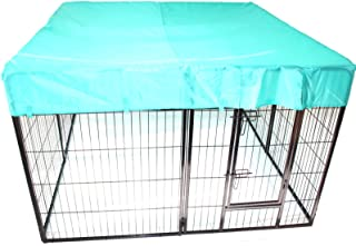 Heavy Duty Pet Dog PlayPen + Waterproof Cover | Puppy Exercise Play Pen Fence Enclosure Gate 8 Panels Heavy-Duty Crate Cag...