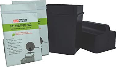 """Range Kleen Grease Container for Kitchen – """"600-02 Trap the Grease"""" Grease Keeper System w/ 2 Fat Trapper Refill Bags + Kitchen Grease Container"""