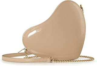Heart Chain Shoulder Bag Glossy Women Cross Body Bag Cosplay Purse