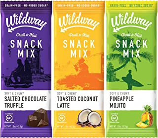 Wildway Fruit & Nut Snack Mix | Variety Pack | Certified Gluten-Free, Grain-Free, Paleo, Non-GMO, No Added Sugars or Extracts - 6pk