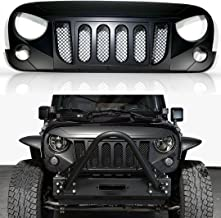 MONSTER Aftermarket ABS Black Custom Grill Compatible with Jeep Wrangler JK 2007-2017