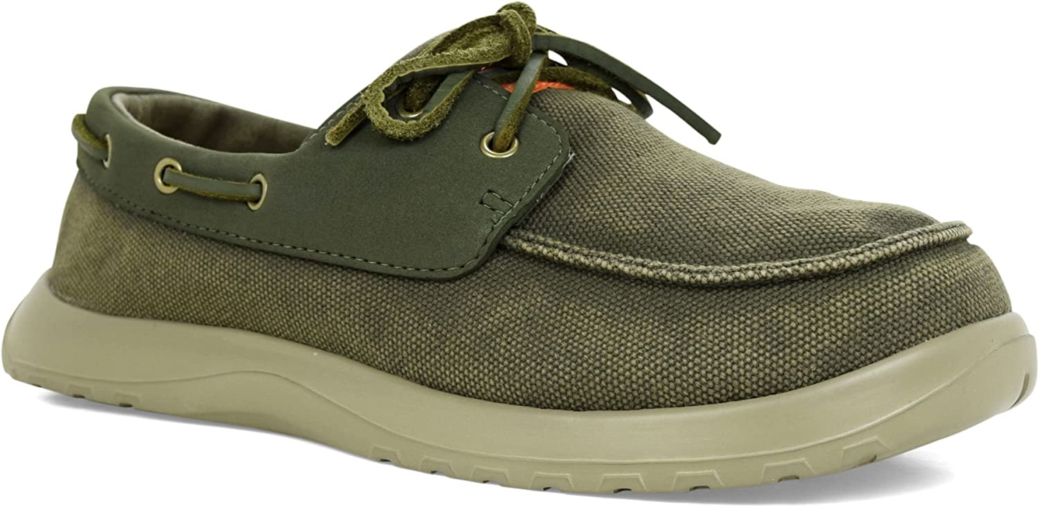 Soft Science Men's Cruise Sage, Classic Canvas Deck shoes Style