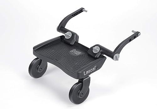 Lascal BuggyBoard Mini 3D, Plateforme poussette à la surface structurée, Accessoire poussette pour enfants de 2 à 6 a...