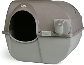 Omega Paw Roll 'n Clean New Litter Box, Brown, Large
