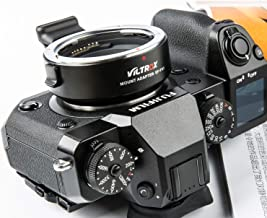 VILTROX EF-FX1 Auto Focus Lens Mount Adapter with Aperture Control, EXIF Transmitting for Canon EOS Tamron Sigma Lens to Fuji X-Mount Mirrorless Camera X-H1 X-PRO2 X-T2 X-T3 X-T1 X-T20 X-T10 X-E2 X-E1