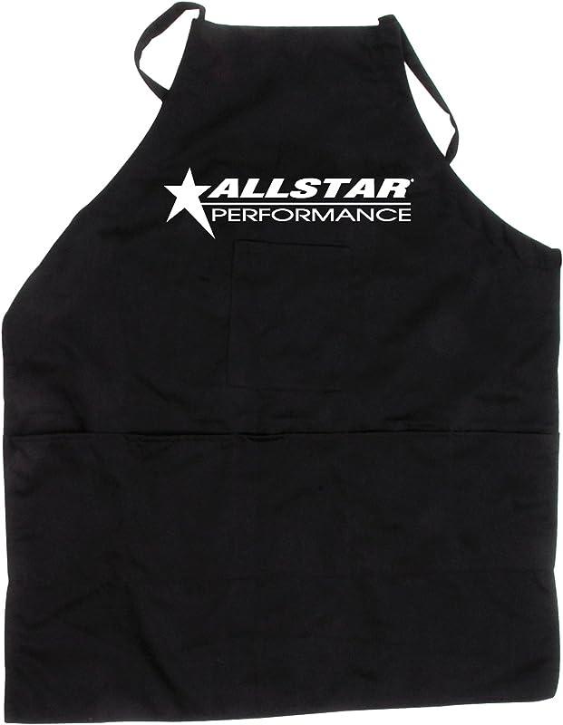 Allstar ALL99962 Black Cloth Adjustable Strap Apron With Allstar Logo