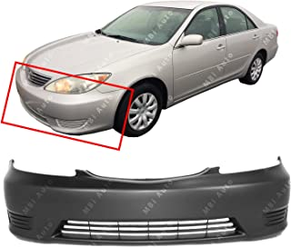 MBI AUTO - Primered, Front Bumper Cover Fascia for 2005 2006 Toyota Camry w/Out Fog 05 06, TO1000284