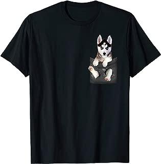 Siberian Husky In Pocket Puppy T Shirt