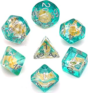 cusdie Conch Dice Polyhedral Dice Sets for Dungeons and Dragons Playing DND Dice (Real Seashell Inside)
