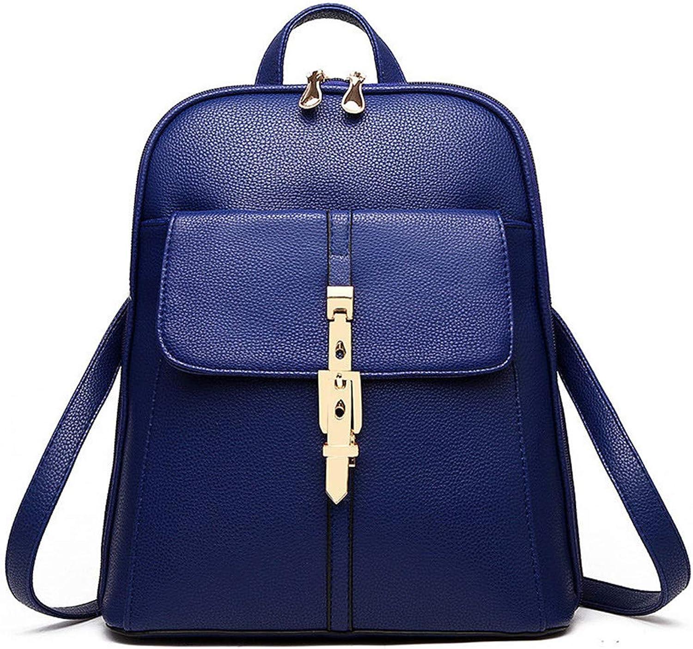 Frauen Rucksäcke Pu-Leder Einfarbig Rucksack Schultaschen College Einfache Design Casual Daypacks Für Frauen Rucksäcke Blau B07JWFWLZW  Leidenschaftliches Leben