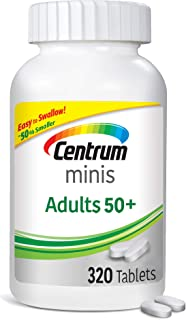 Centrum Minis Adult 50+ (320 Count) Multivitamin/Multimineral Supplement Tablets + 2 Free Months of obé Fitness