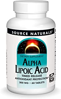 Source Naturals Alpha Lipoic Acid - Supports Healthy Sugar Metabolism, Liver Function & Energy Generation - 60 Timed Relea...