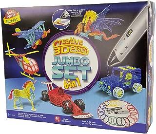 Creative 3D Pro Jumbo Set   Printing Pen Mega Kit   6 in 1 Three Themes   Tech Art   Automotive Studio