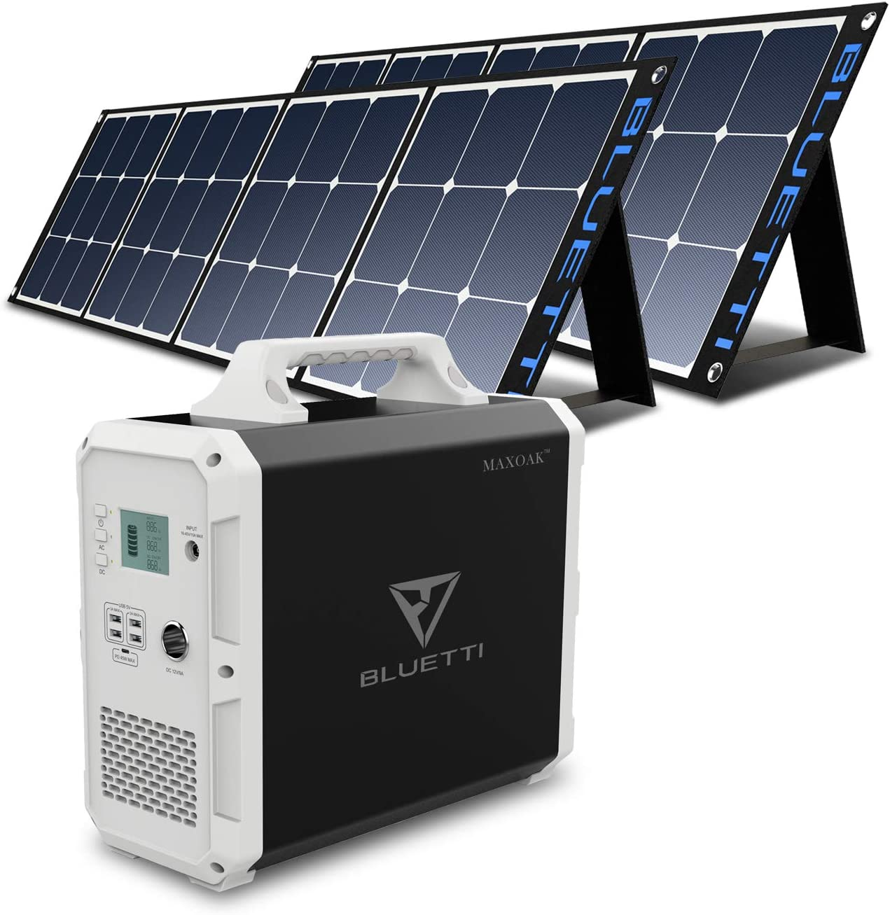BLUETTI EB150 Portable Power Station with 2Pcs SP200 200W Solar Panel Included, Solar Generator 1000W AC Inverter for Home Use Lithium Battery Backup Solar Bundle Kit for Power Outage RV Outdoor
