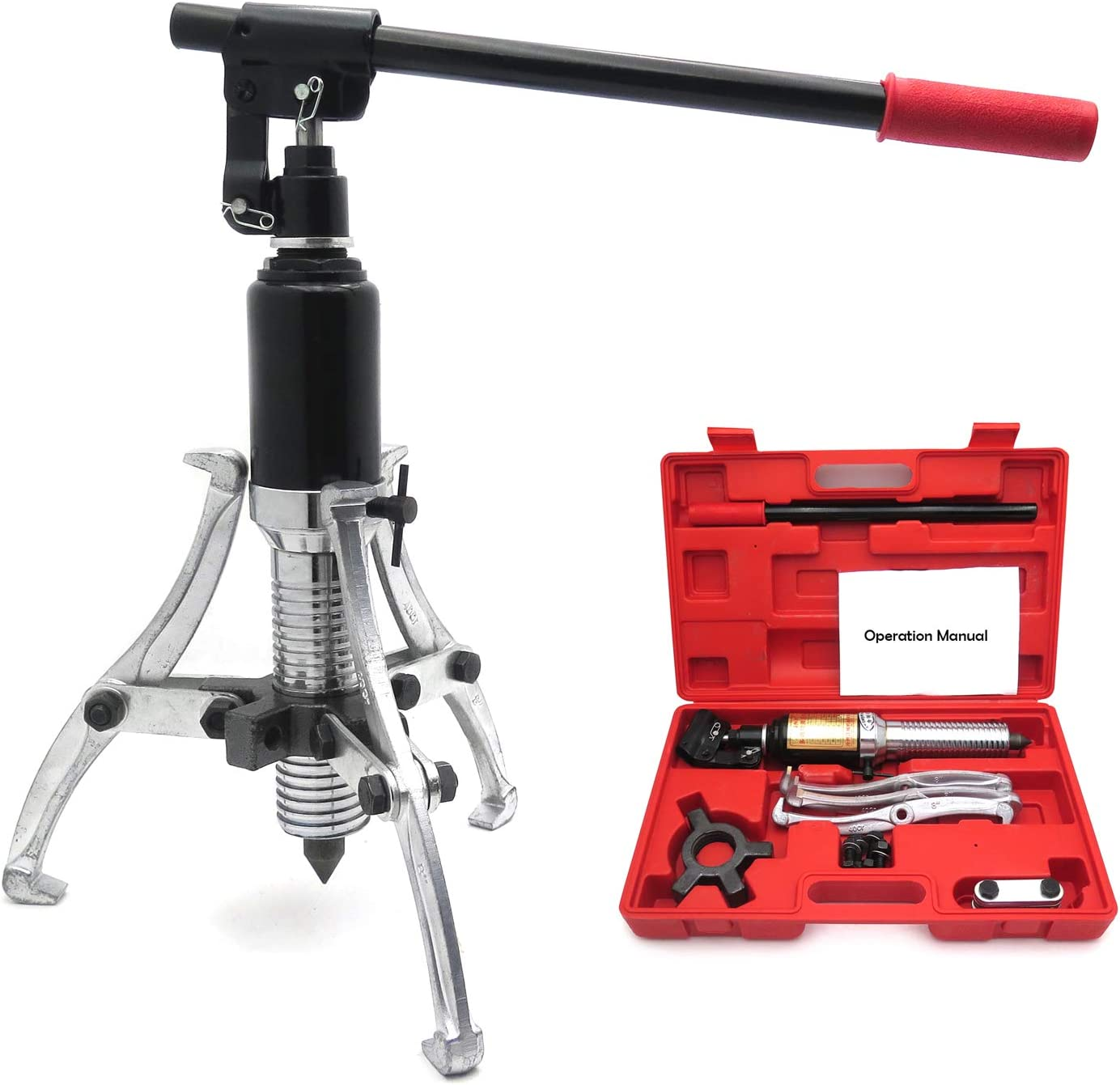 XKH- Large special price Vehicle 10 supreme Ton 3 Jaw Gear Puller 3in1 Pulling Hydraulic 360