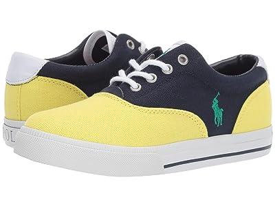 Polo Ralph Lauren Kids Vaughn II (Big Kid) (Navy/Yellow Canvas/Green Pony) Kid