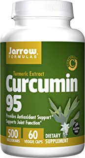 Jarrow Formulas Curcumin 95, Supports Joint Function* and Antioxidant Support*, 500 mg, 60 Veggie Capsules