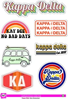 Kappa Delta - Sticker Sheet - Retro Theme