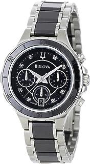 Bulova - Reloj de construcción de cerámica y Acero Inoxidable para Mujer 98P126