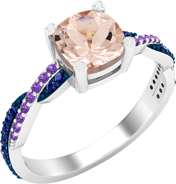 Dazzlingrock Collection 6 mm Many popular brands Cushion Blue Gemstone Sapph Round mart