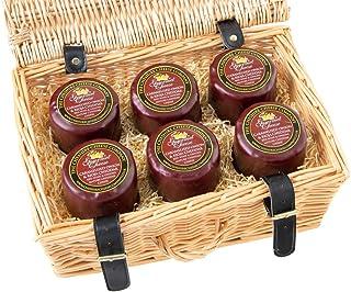 6 x Caramelised Onion & Rioja Cheddar 200g Wax Truckles Wicker