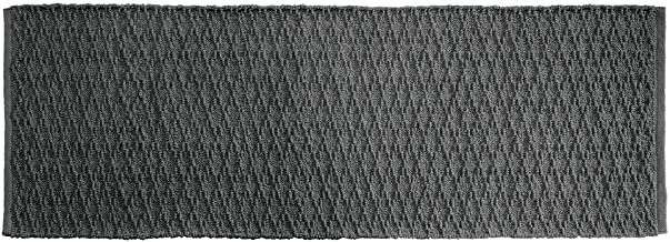 "mDesign Bathroom Cotton Rectangular Rug, Long Runner, 60"" x 21"", Cotton, Charcoal Gray, Pack of 1"