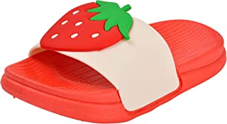 Yellow Bee Strawberry Flip Flops for Girls