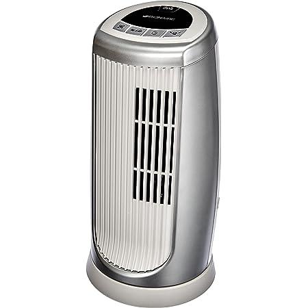 Bionaire - BMT014D - Mini colonne ventilateur - modèle à oscillation avec minuterie et ioniseur - hauteur 30cm - argent/blanc