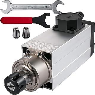 VEVOR Motor de Husillo Refrigerado 2,2 kW 220 V Motor Refrigerado por Aire, ER25 18000 RPM 400 Hz Motor de Husillo CNC de Alta Velocidad para Máquina de Grabado Madera Piedra Acrílico VFD Convertidor
