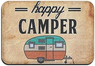 Happy Camper Camping Door Mat Entrance Mat Floor Mat Rug Indoor/Outdoor/Front Door/Bathroom Mats Rubber Non Slip £¨24
