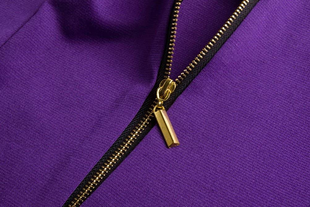 Womens Polyester Back Open Short Sleeve O-Neck Dress
