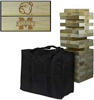 Victory Tailgate NCAA Giant Wooden Tumble Tower Game Set - 600+ Schools Available