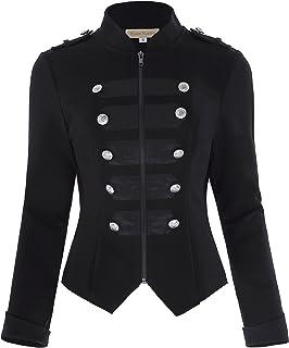 Kate Kasin Womens Victorian Steampunk Ringmaster Jacket Military Blazer KK464