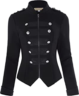 Womens Victorian Steampunk Ringmaster Jacket Military Blazer