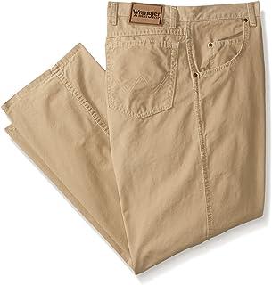 بنطلون رجالي كبير من Wrangler من قماش متين مقاس كبير ومريح ذو ساق مستقيمة