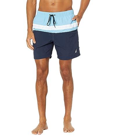 Nautica 8 Color-Block Swim Shorts